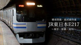 JR東日本E217 横須賀線・総武快速   東京・新橋・品川編