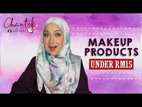 Chantek: Produk Makeup Bawah RM15 bersama Aisha Liyana