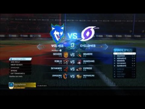 Rocket League® wolves vs. Monarch express and bombers