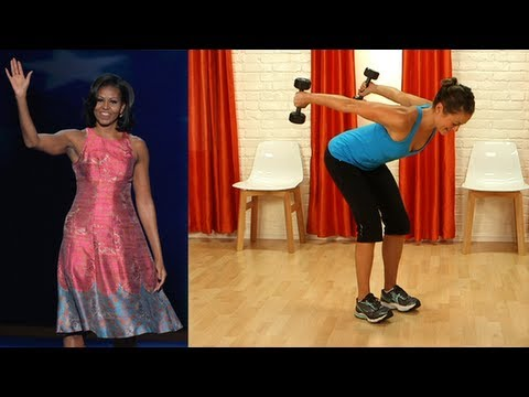 Michelle Obama Arm Workout, Toned Biceps and Triceps, Fit How To