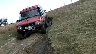 Green Laning in Wales in 4x4 Land Rovers (V Gulley, Whitestones, Pheasant Steps)