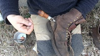 Whites Boots restoration part 2  ....&    How to use a stitching Awl