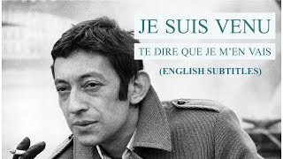 Serge Gainsbourg - Je suis venu te dire que je m'en vais (english subtitles) - 1973