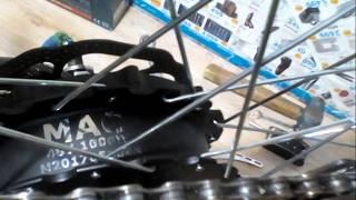 Редукторное мотор колесо 48вольт 1000 ватт . Накат . Свободный ход .