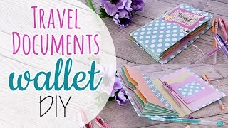 Portadocumenti da viaggio fai da te - Travel Documents wallet DIY
