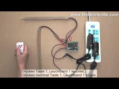 4 Kanal DC Lichtschalter steuert 4 LED ein/aus in Betriebsart Toggle ...