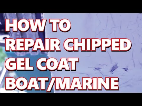 How To Repair DIY Chipped Gel Coat fiberglas Boat : Marine