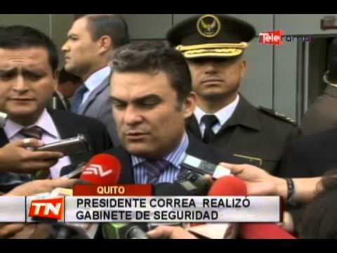 Presidente Correa realizó gabinete de seguridad