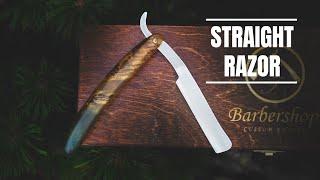 Knife making - STRAIGHT RAZOR - from scrap to SHAVING