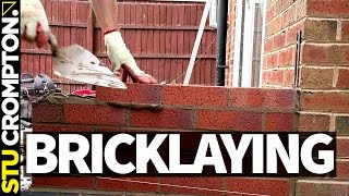 How to lay bricks, conservatory base. bricklaying tutorial