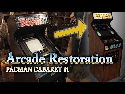 Arcade DIY #30   Pac Man Cabaret Cab restoration #1