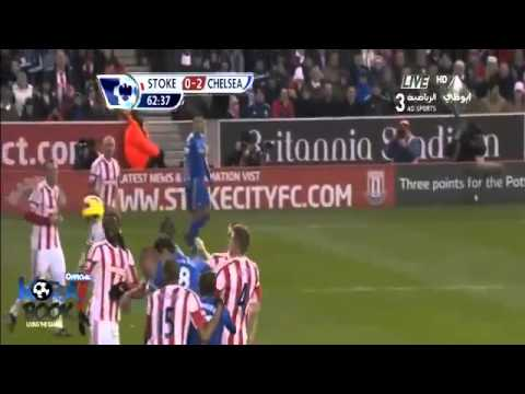 2 own goals in a one game!! stoke city 0-4 chelsea