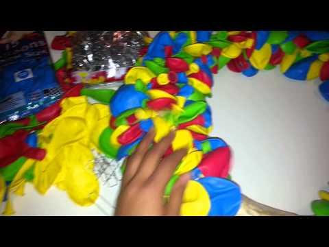 Sesame street how to balloon wreath