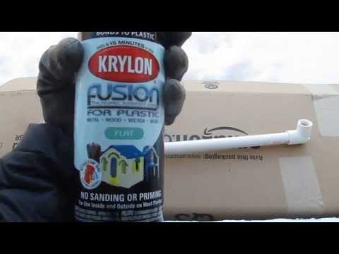 Spray Painting Aquarium PVC Pipes To Black