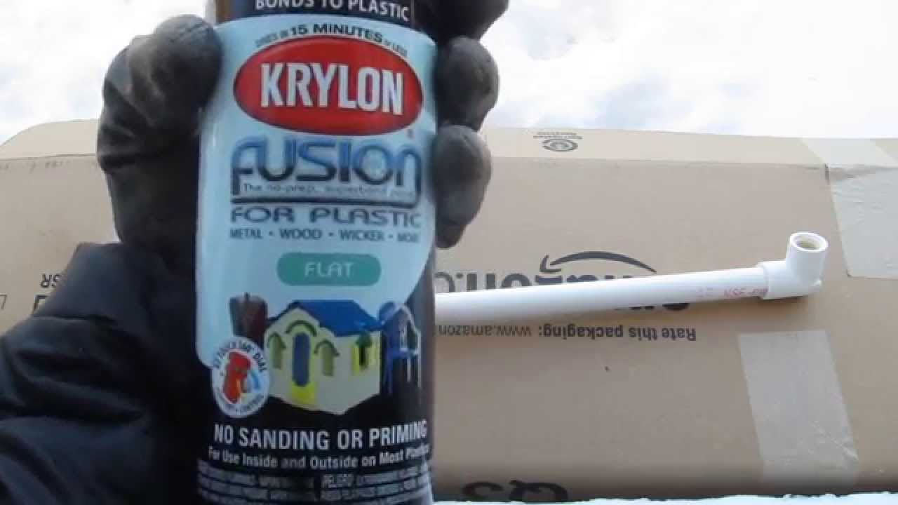 Spray painting aquarium PVC pipes to black - YouTube