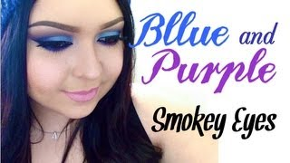 Look: Violet Waves (Blue and purple smokey eyes with a rose pink lip) Thumbnail