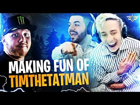 MAKING FUN OF TIMTHETATMAN?! NINJA AND COURAGE AFTER DARK! (Fortnite: Battle Royale)