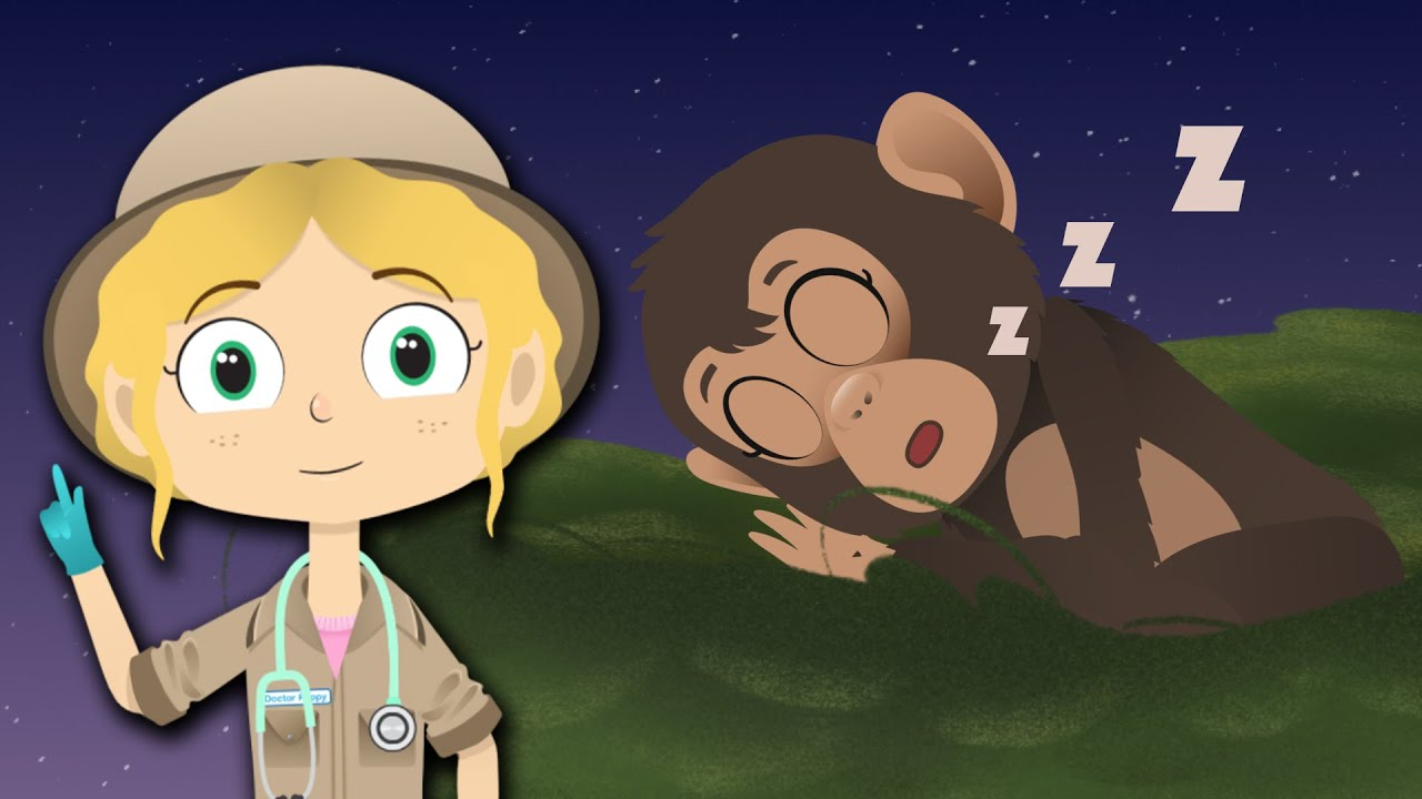 Sleepy Chimpanzee Visits Dr Poppy On Safari | Animals For Kids | Lullabies & Songs | Sleep Tight