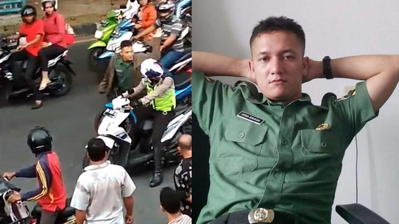 Hasil gambar untuk Anggota TNI 4 Kali Pukul Kepala Polantas di Tengah Jalan, Tonton Video Arogansi dan Kronologinya