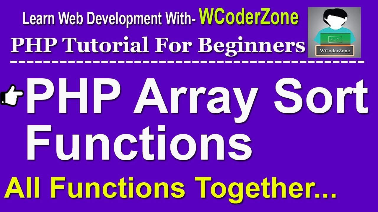 PHP array sort functions example - PHP English Tutorial