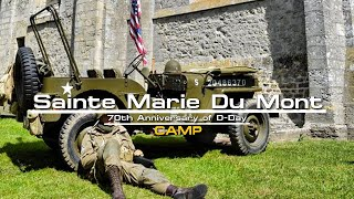 Camp at Sainte Marie Du Mont Normandy 70th anniversary of D-Day