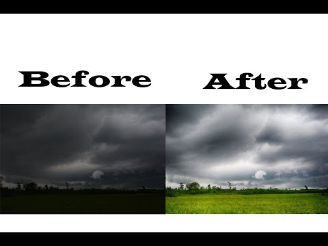 How to edit a landscape photo in photoshop.