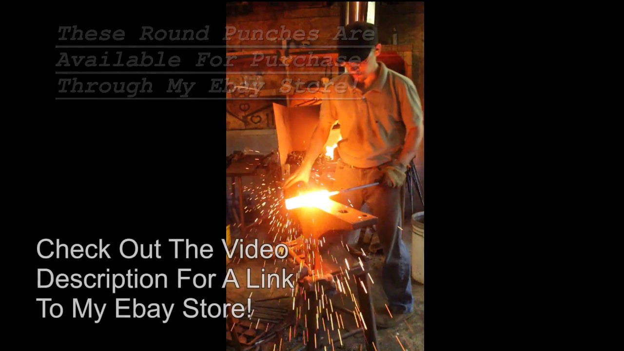 how to use the fiery furnace forge round punch youtube