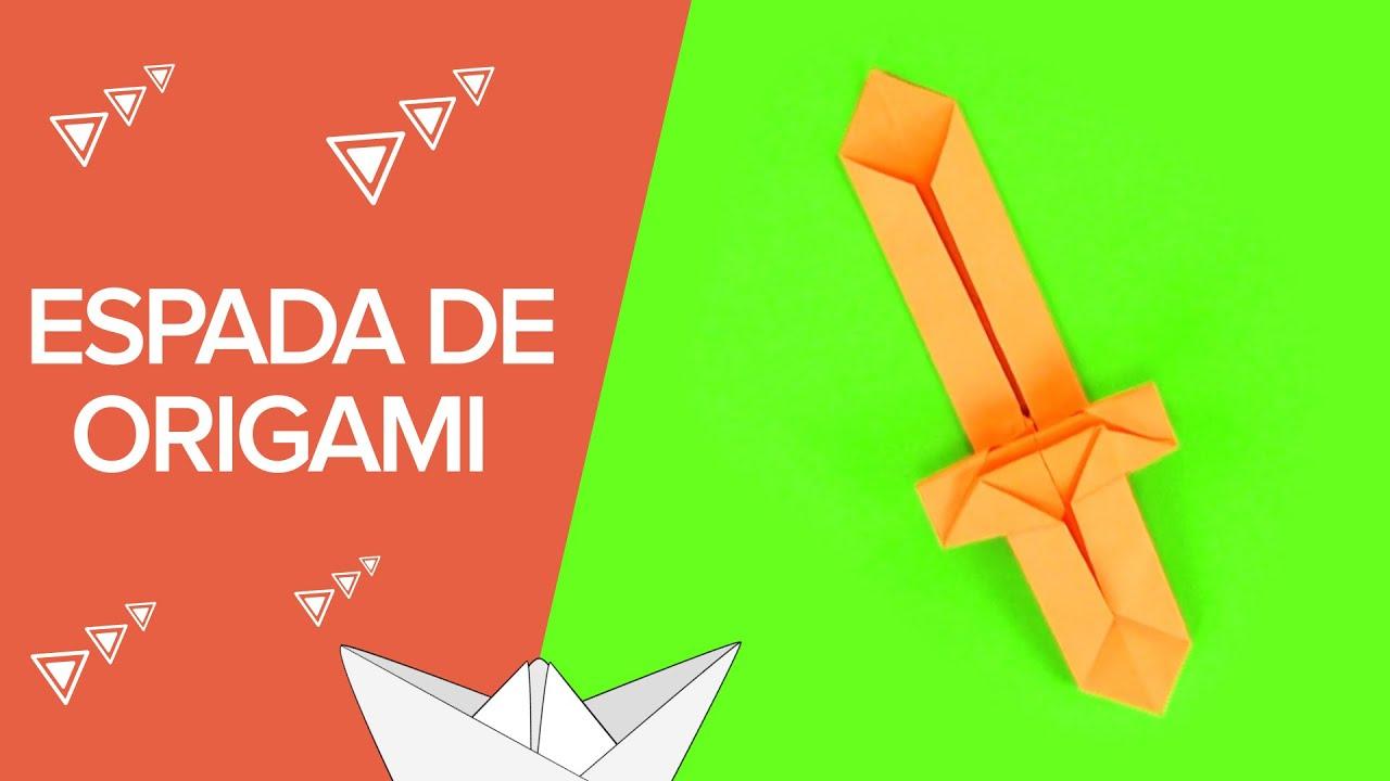 Espada De Papel Paso A Paso Origami Para Niños