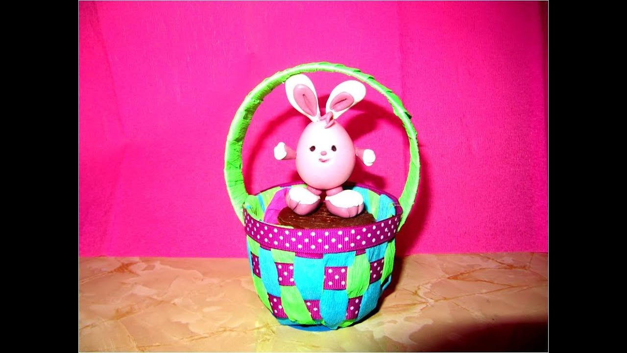 Manualidades Souvenir Canastita Baby Huevos De Pascua Youtube