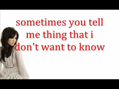 Mandy Moore- Crush with lyrics on screen