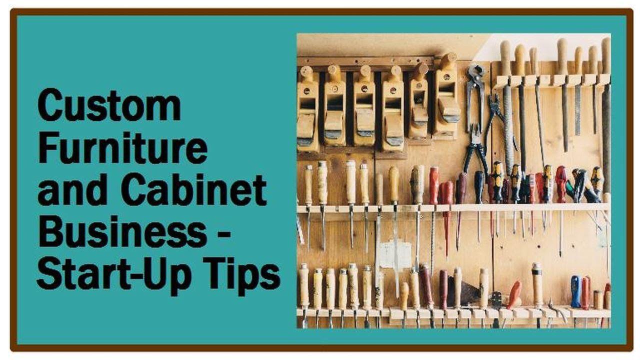Custom Furniture - Cabinet Shop Start Up Tips - YouTube
