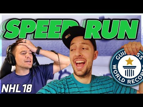 BEATING NASHER'S NHL 18 SPEED RUN *NEW WORLD RECORD*