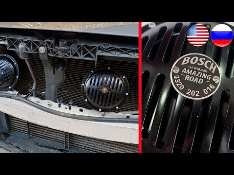 Detailed Installation Of Very Loud Amplified BOSCH Signals On The Merceeds