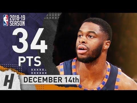 Emmanuel Mudiay Full Highlights Knicks vs Hornets 2018.12.14 - 34 Pts, 8 Ast, 3 Rebounds!