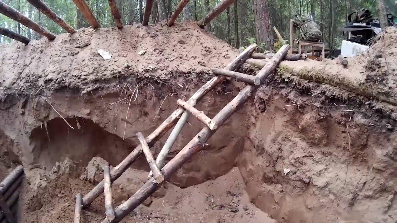 Землянка в лесу своими руками фото 339