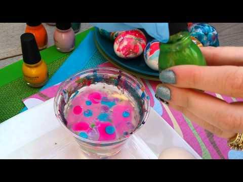 Margie Maybe - Nail Polish Easter Egg Swirl