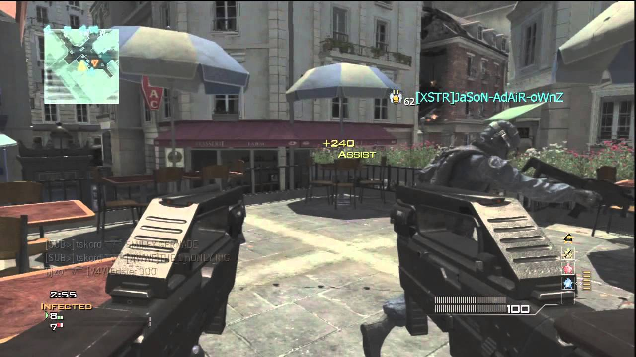 MW3: Crazy Fast FMG9 Akimbo Infected MOAB on Resistance | I Bought ...