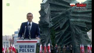 Przemówienie Mateusza Morawieckiego w Katowicach z okazji Święta Wojska Polskiego