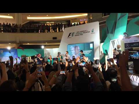 2015 Malaysia GP - Meet and Greets, Lewis Hamilton And Nico Rosberg