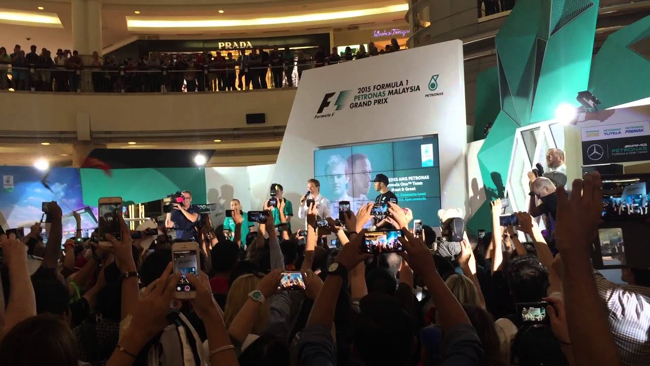 2015 Malaysia Gp Meet And Greets Lewis Hamilton And Nico Rosberg
