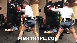 CANELO TRAINING FOR AGGRESSIVE ATTACK ON GOLOVKIN; GETTING READY TO TRADE POWER AND BACK HIM UP