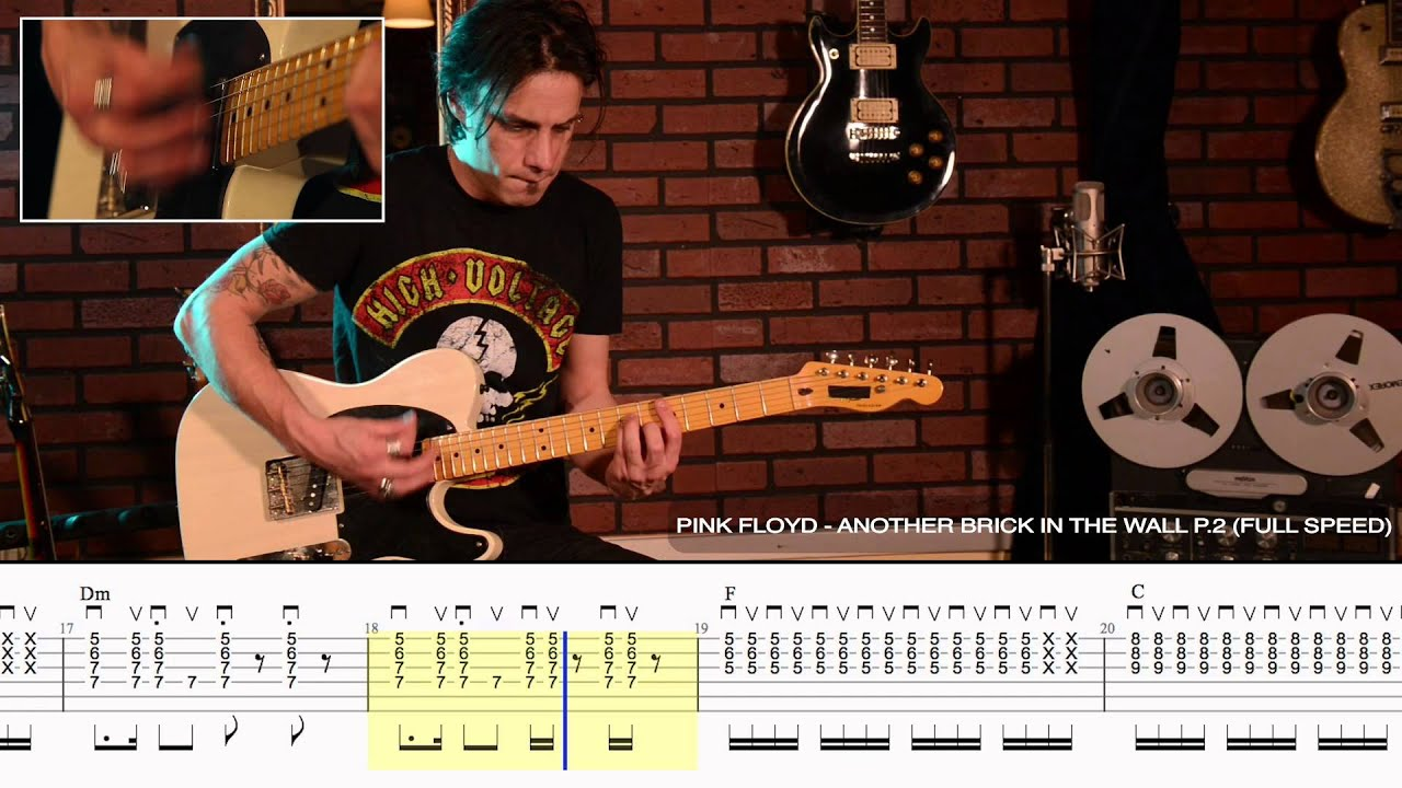 How To Play Another Brick In The Wall P 2 By Pink Floyd