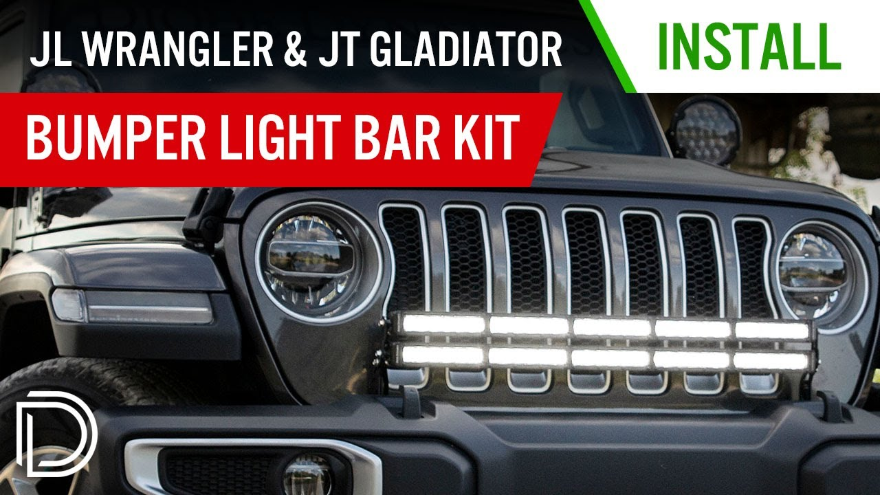 268831dca0c How to Install 2018 Jeep JL Wrangler Bumper Light Bar Kit | Diode Dynamics
