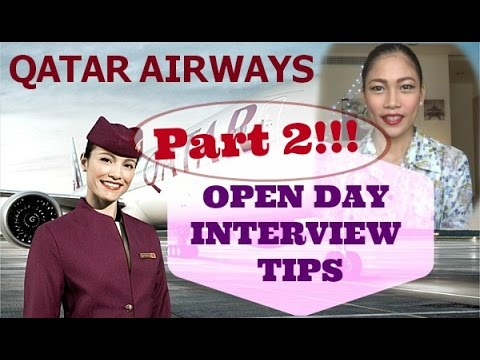 Qatar Airways Cabin Crew Open Day Interview Tips (part 2)