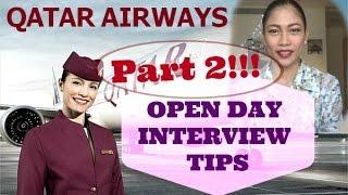 Qatar Airways Cabin Crew Open Day Interview Tips (part 2)