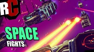 No Man's Sky - Space Fight Tips and how to rescue cargo freighters with tons of enemies