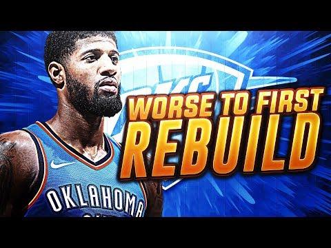 2019 WORST 2 FIRST REBUILD CHALLENGE! NBA 2K18