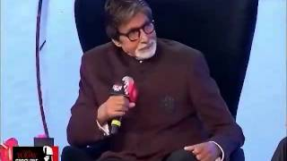 "Big-B sang ""jiski biwi moti uska bhi bada naam hai"" at India Today Conclave 2014"