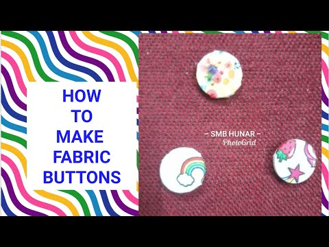 How to make Fabric button with needle n thread| creative fabric button | easy sew fabric button |
