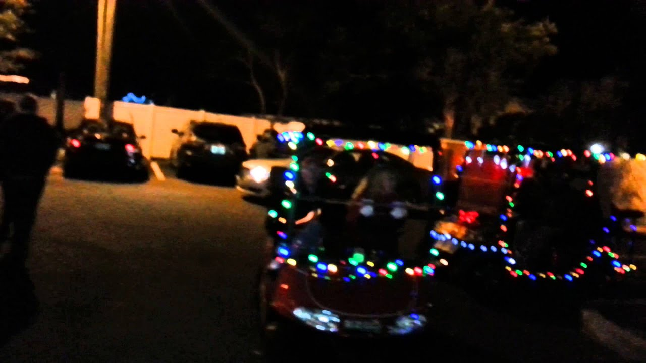2015 Dunedin Christmas golf cart parade - YouTube